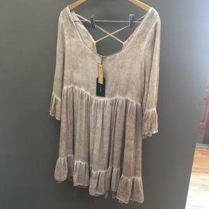Black Swan Clothing New w/ tags Brown Ruffle Dress